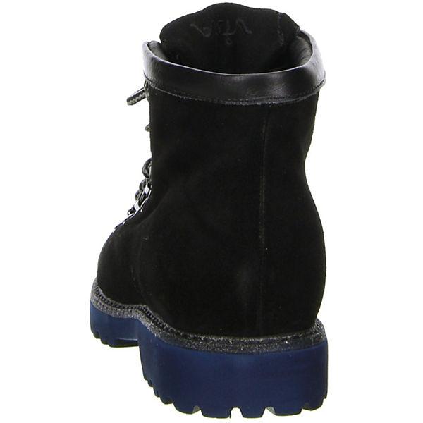 Vista, Damen Stiefeletten Tracht Echtleder Velour schwarz, blau  Gute Qualität beliebte Schuhe