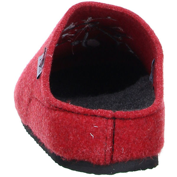 Tofee, Damen Hausschuhe Pantoffeln Naturwollfilz (Elch) rot, rot  Gute Qualität beliebte Schuhe