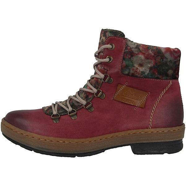 Rieker, Schuhe Eagle-Bogota-Samt Schnürstiefeletten, Schnürstiefeletten, Schnürstiefeletten, rot  Gute Qualität beliebte Schuhe 5930d6