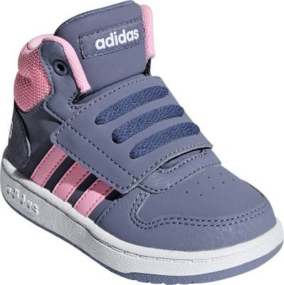 adidas Sport Inspired, Baby Sneakers High HOOPS MID 2.0 für Mädchen, fliedergrau