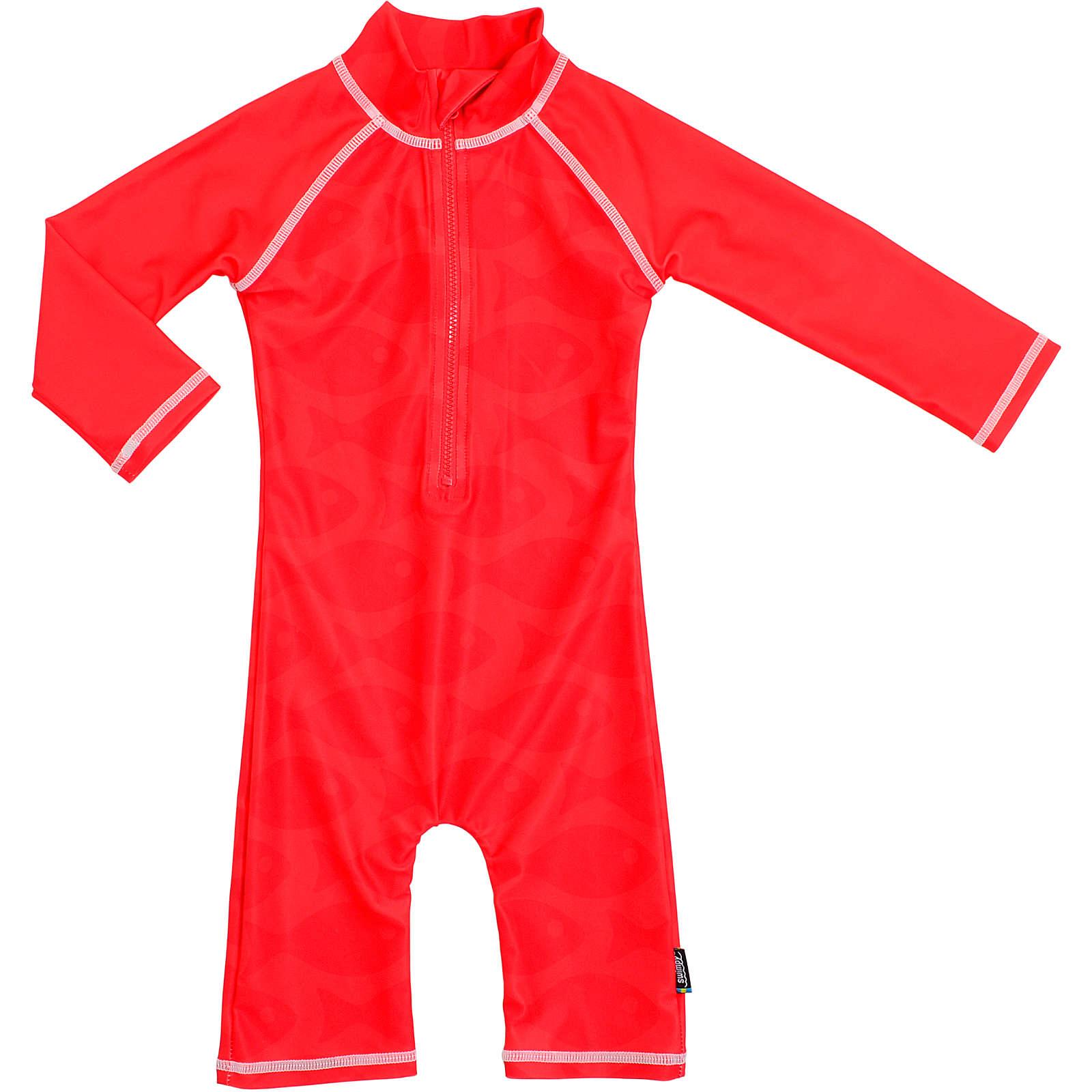 SWIMPY Baby Sonnenhut mit UV-Schutz rot Gr. 62/68