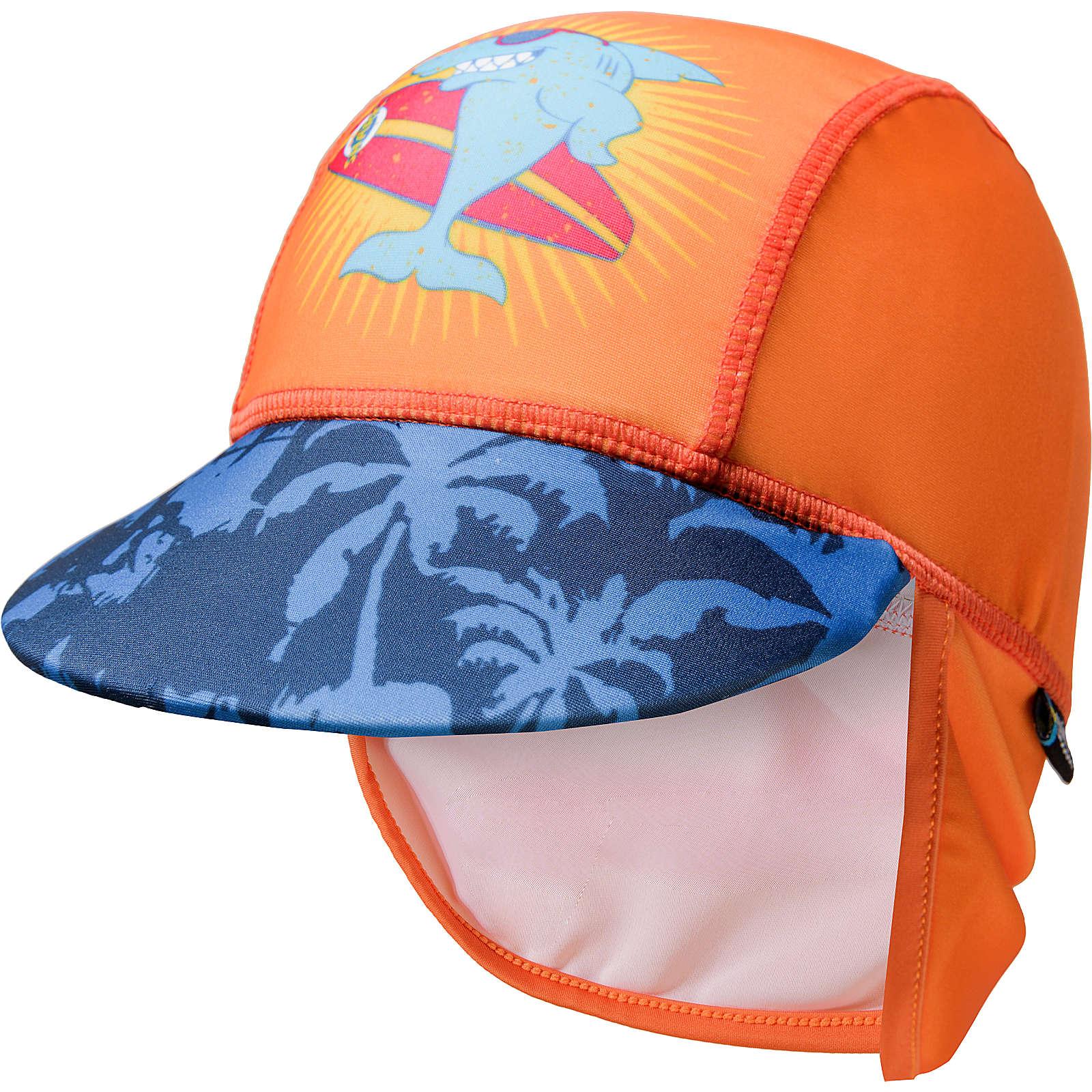 SWIMPY Baby Sonnenhut mit UV-Schutz orange Gr. 116/128