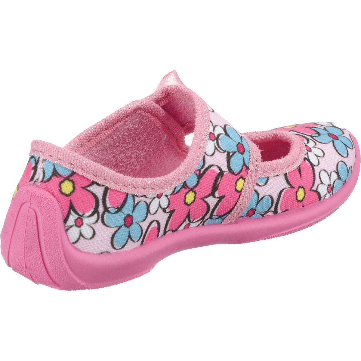 Fischer-markenschuh, Hausschuhe Für Mädchen, Blumen, Pink