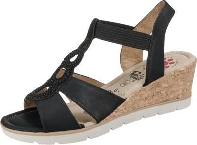 ecco, ECCO SHAPE 35 WEDGE SANDAL Klassische Sandaletten, schwarz