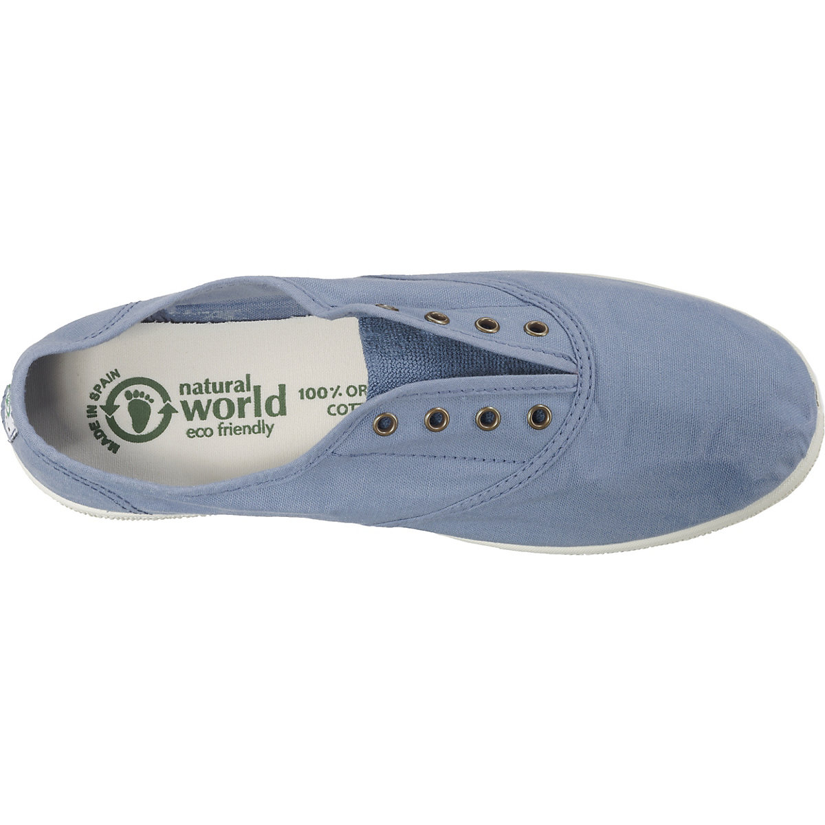 Natural World, Ingles Tintado Klassische Slipper, Blau