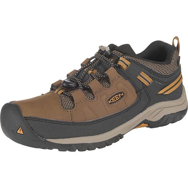 Keen Jungen Targhee Mid Wasserdicht Wanderschuhe Trekking Schuhe Braun