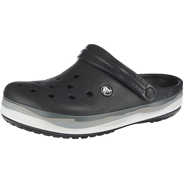 Crocband Wavy Band Clog Blk/Mlti Clogs