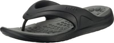 crocs, Reviva Flip BlkSGy Zehentrenner, schwarzgrau