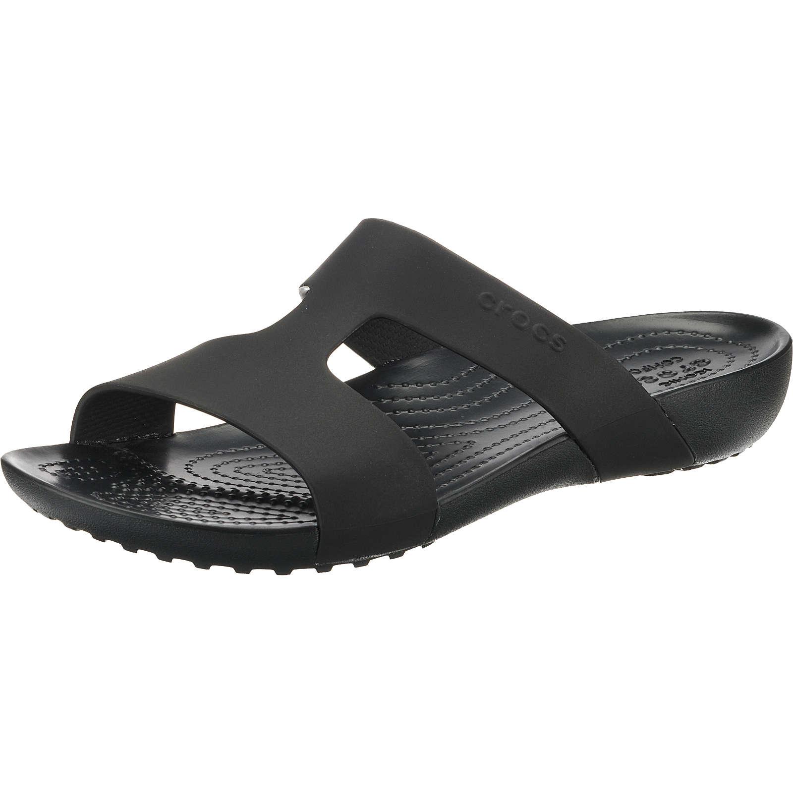 Crocs Serena Slide W Blk/Blk Komfort-Pantoletten schwarz Damen Gr. 36/37