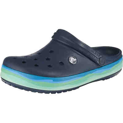 Crocband Wavy Band Clog Nvy/Mlt Clogs
