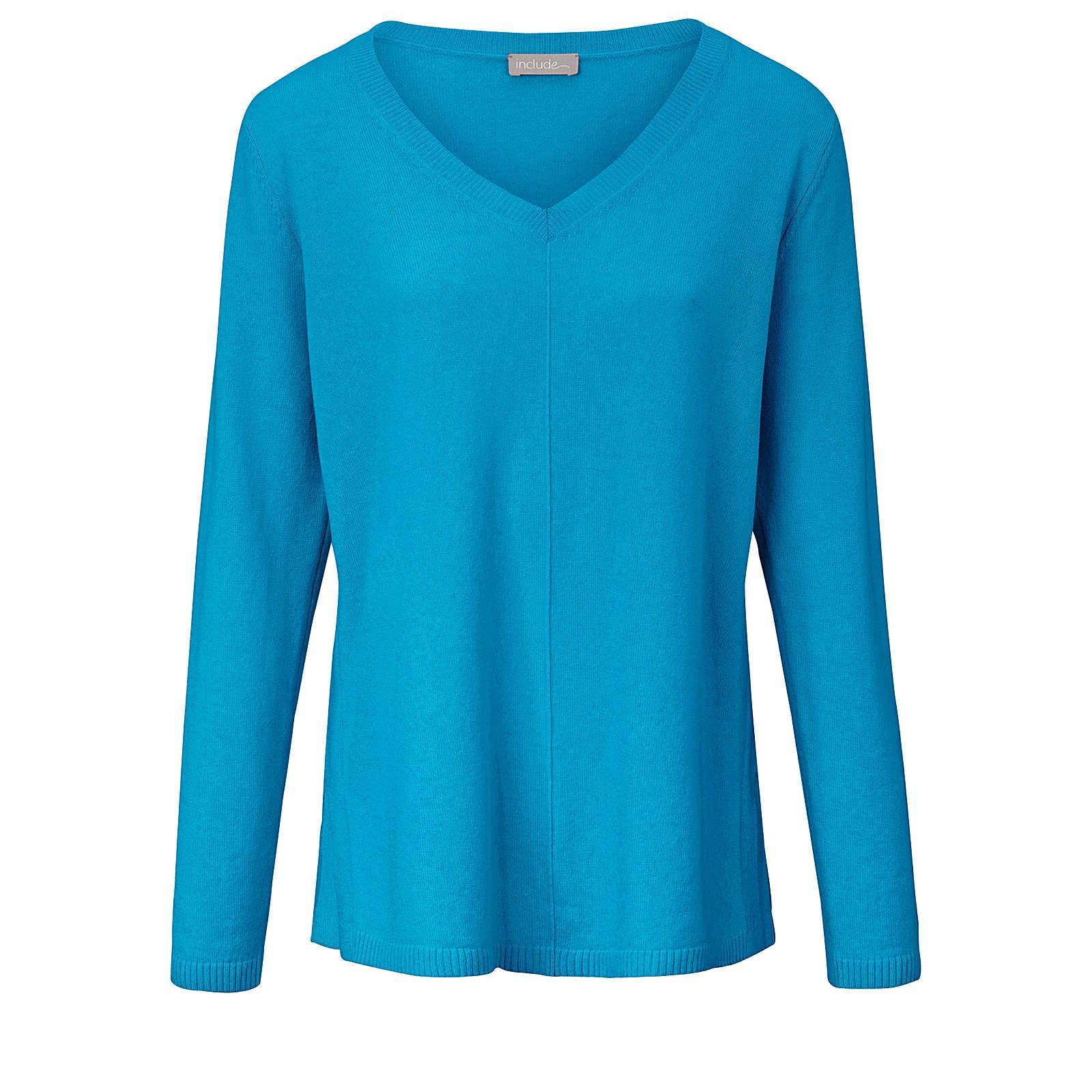 Include V-Pullover V-Pullover aus edlem Kaschmir Pullover blau Damen Gr. 46