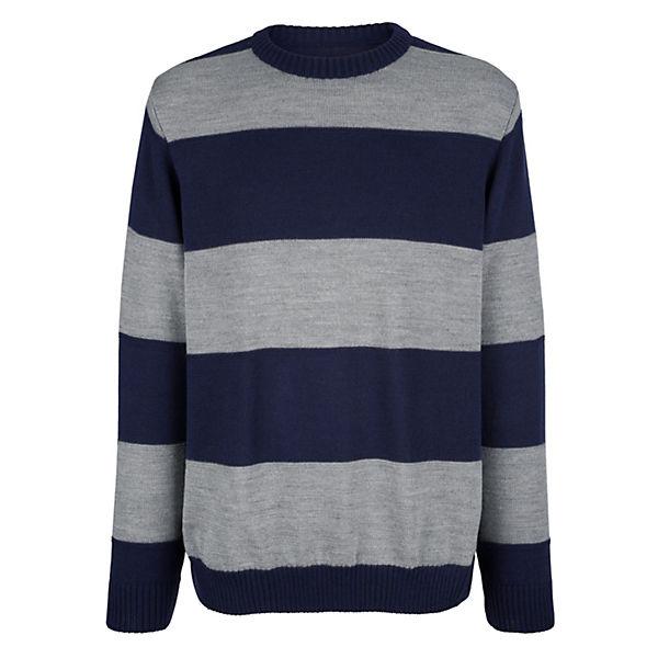 03c53cc65e4f Roger Kent, Pullover, blau grau   mirapodo