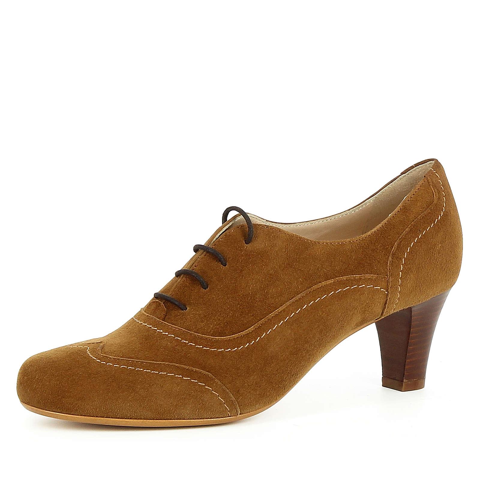 Evita Shoes Damen Pumps GIUSY Schnürpumps cognac Damen Gr. 39