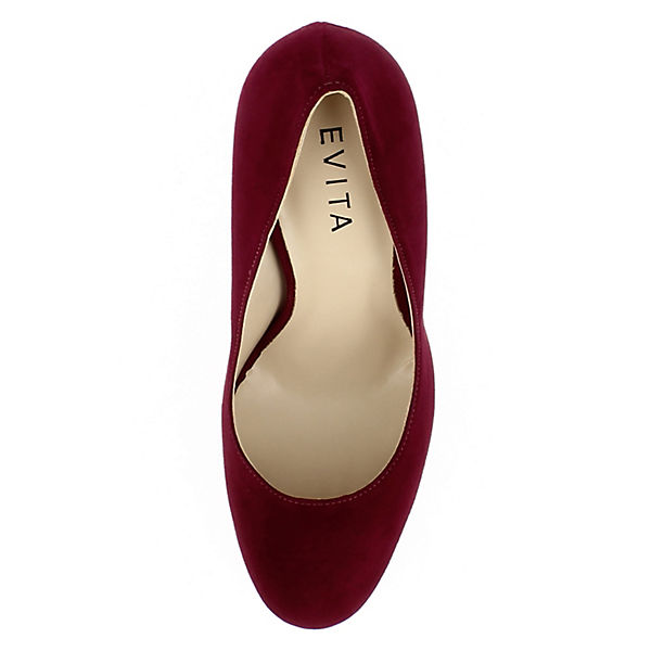 Evita Evita Evita Schuhes, Damen Pumps CRISTINA Klassische Pumps, dunkelrot  Gute Qualität beliebte Schuhe 13ca56
