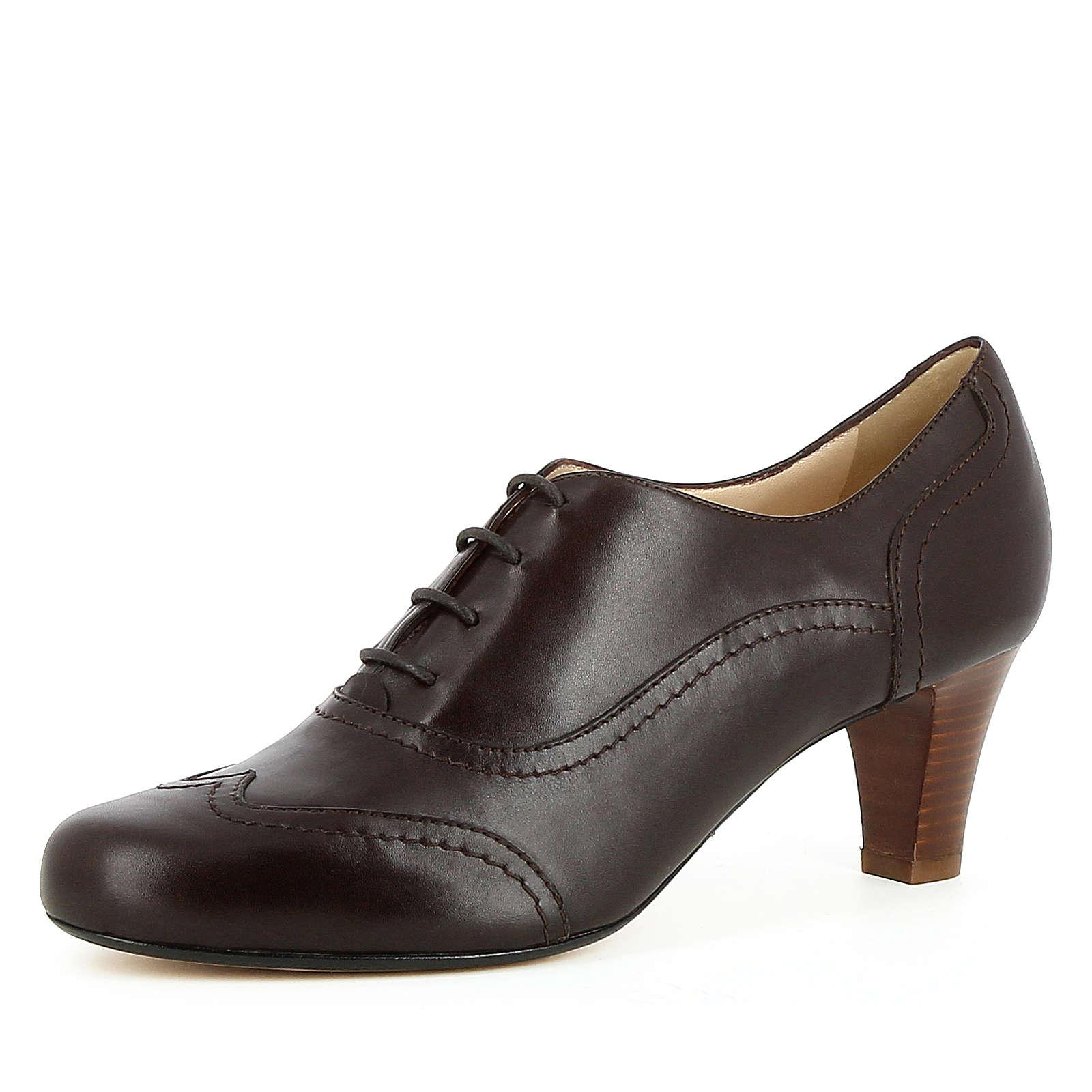 Evita Shoes Damen Pumps GIUSY Schnürpumps dunkelbraun Damen Gr. 36