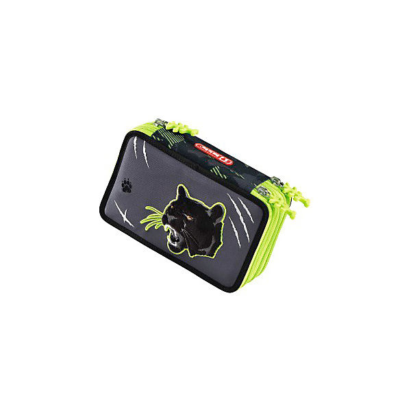 3-fach Federtasche XXL FLASH Wild Cat