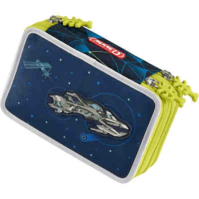 3-fach Federtasche XXL FLASH Space Pirate