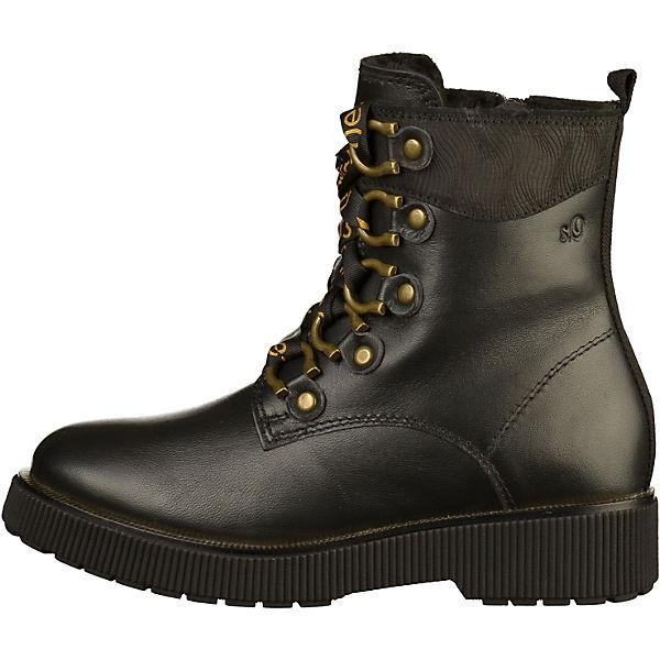 S.Oliver, S.Oliver, S.Oliver, Stiefelette Schnürstiefeletten, schwarz/braun  Gute Qualität beliebte Schuhe a91642