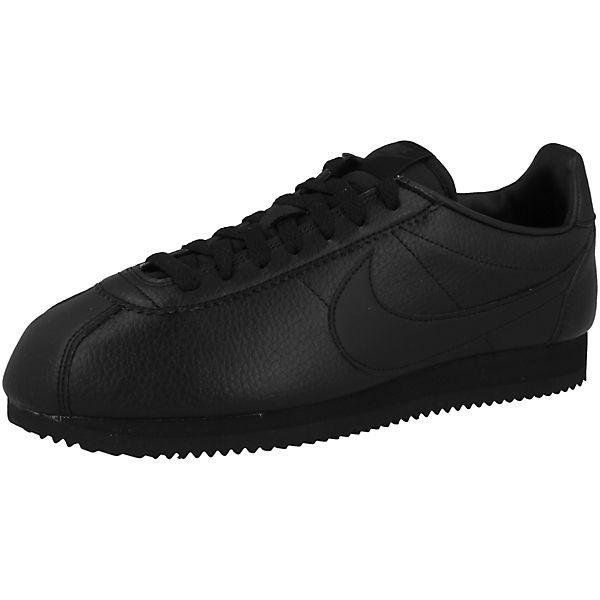 Sneakers Schuhe Classic Cortez Low Schwarz Nike Sportswear Leather QrshtdCx