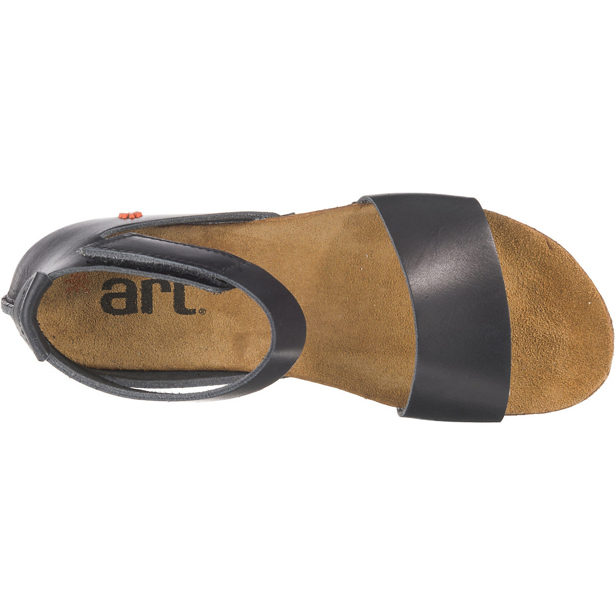 *art, Klassische Sandalen, Schwarz