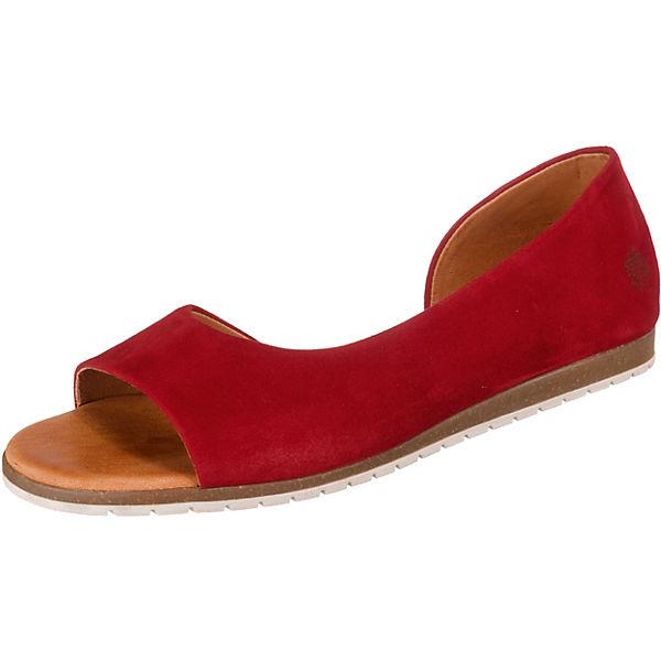hot sale online 076c0 0712b Apple of Eden, Celta Peeptoe-Ballerinas, rot