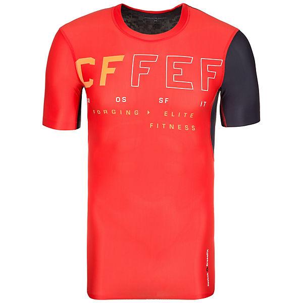 Reebok Compression Herren Orange Trainingsshirt Crossfit PXkTuOiZ