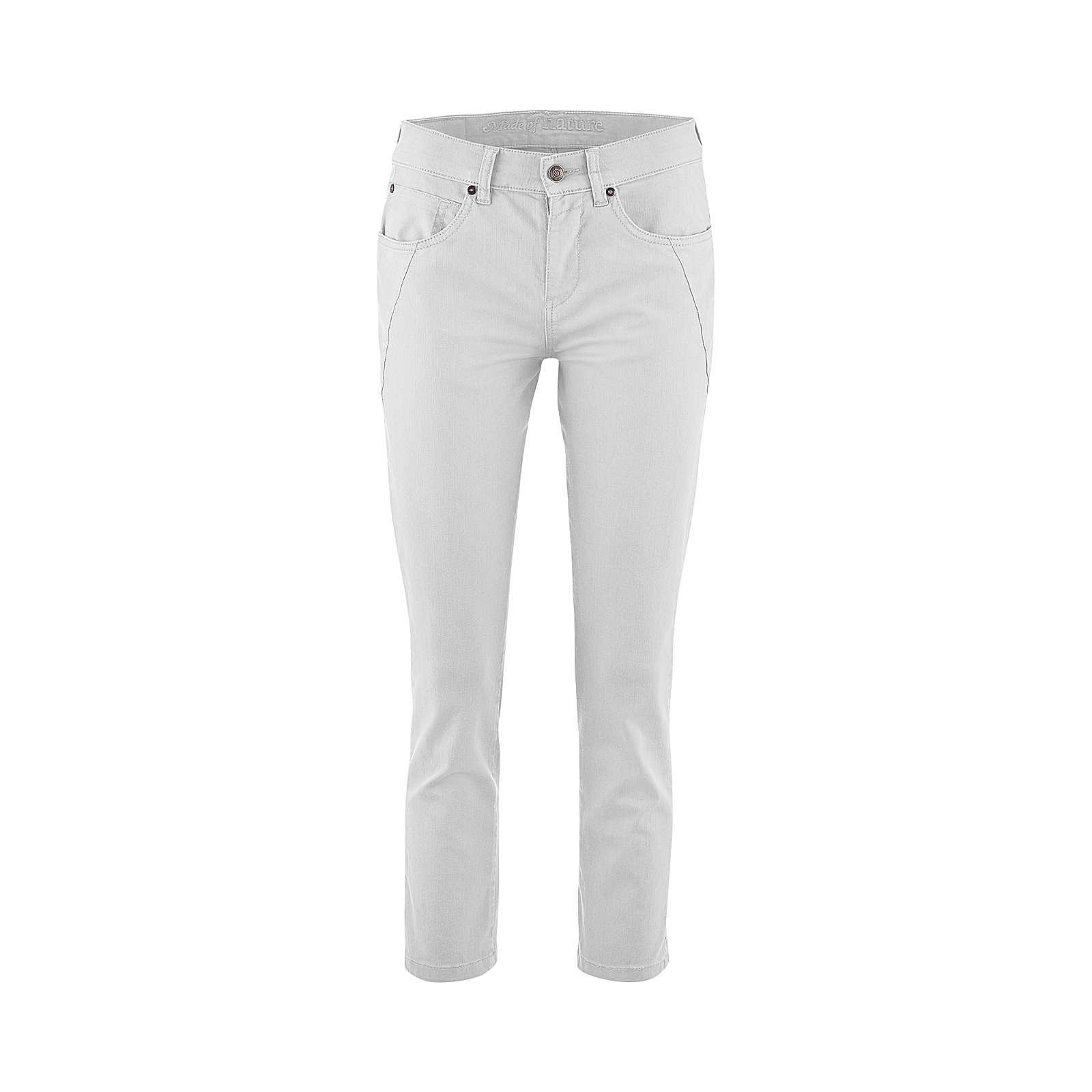 LIVING CRAFTS 5-Pocket-Hose Stoffhosen offwhite Damen Gr. 31