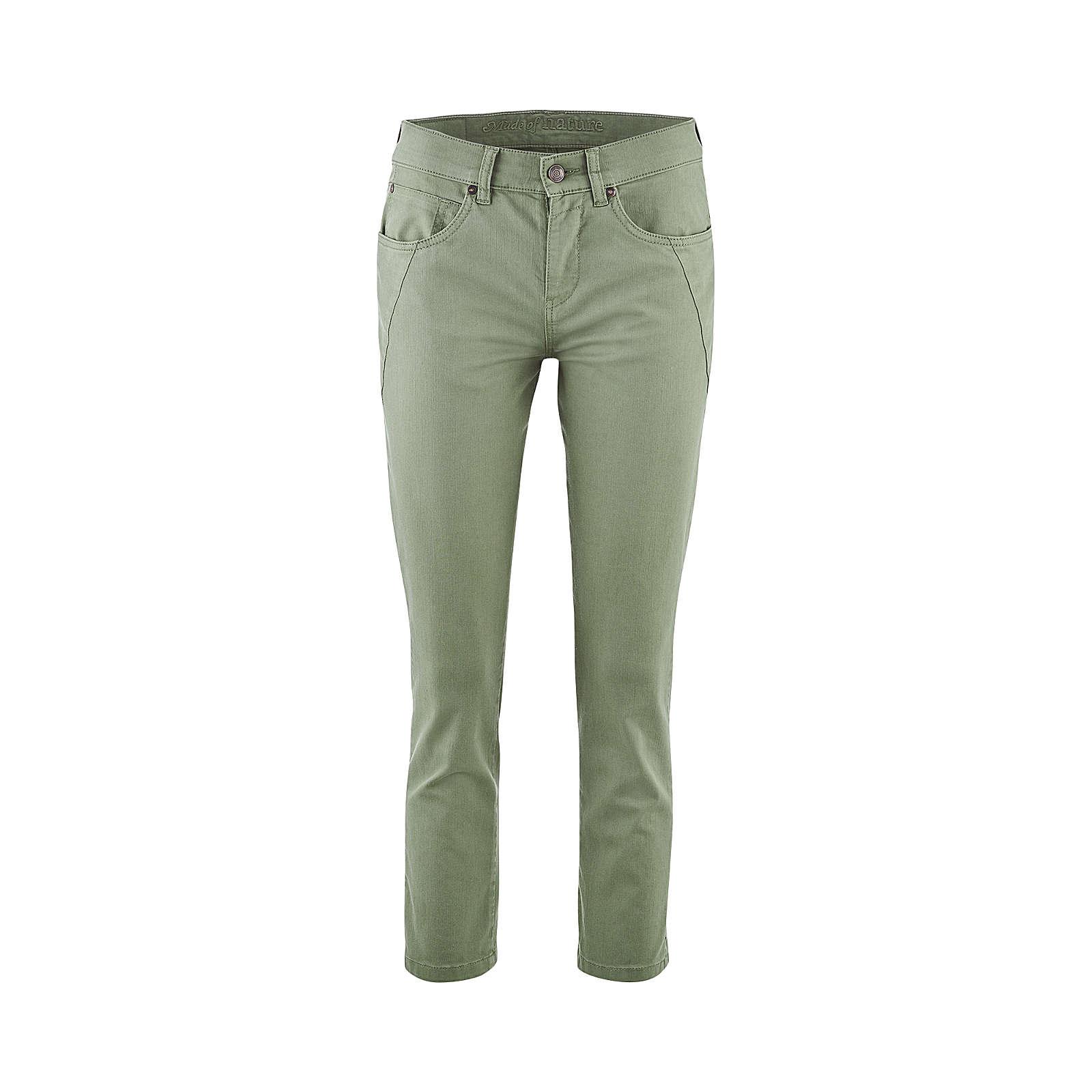 LIVING CRAFTS 5-Pocket-Hose Stoffhosen khaki Damen Gr. 33