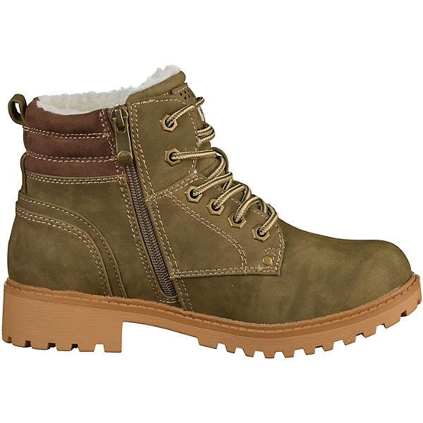 MARCO TOZZI, Stiefelette Schnürstiefeletten, khaki khaki khaki  Gute Qualität beliebte Schuhe e31eb7