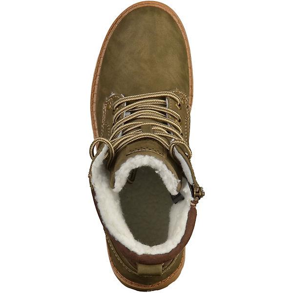 MARCO TOZZI, Stiefelette Schnürstiefeletten, khaki khaki khaki  Gute Qualität beliebte Schuhe 3c715d