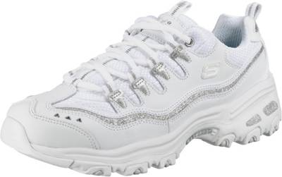 Skechers Sport D'Lites Now & Then Damen Sneaker, weiss | eBay