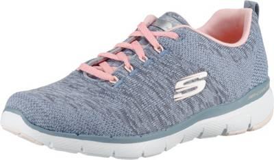 Skechers Flex Appeal 2.0 coole Damen Strick Sneakers
