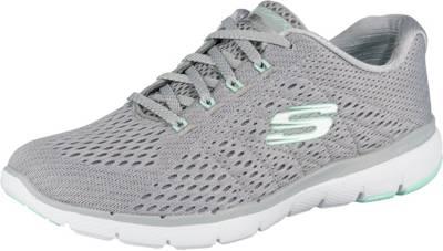 SKECHERS, FLEX APPEAL 3.0 SATELLITES Sneakers Low, grau