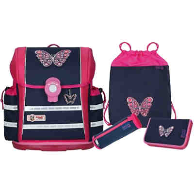 Schulranzenset ERGO Light 912 S Butterfly, 4-tlg. (Kollektion 2018/2019)