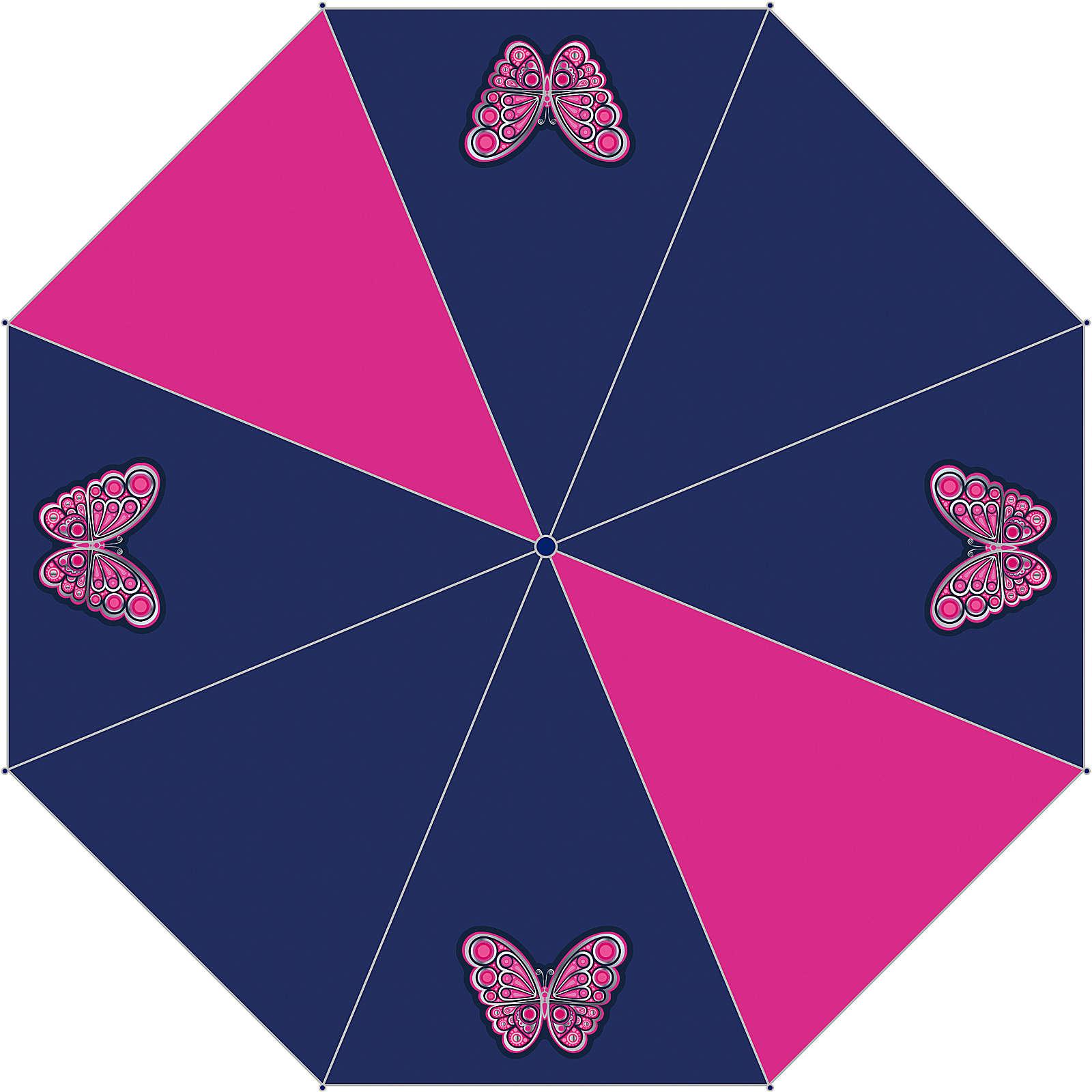 McNeill Taschenschirm Butterfly lila-kombi Mädchen