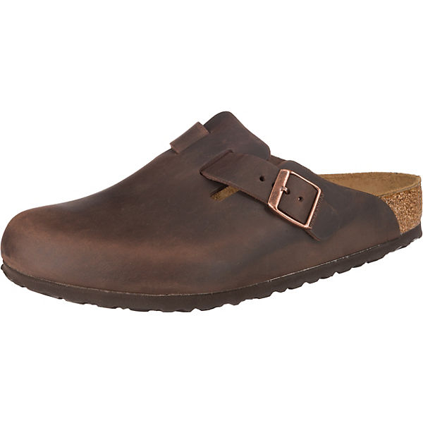 Boston Oiled Leather Leder Clogs normal