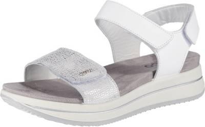 Exklusiv Comma Damen Sommer high heels schuhe Leder Sandalen