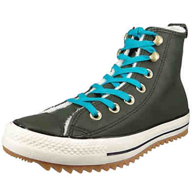 Chucks 162478C Grün Leder Chuck Taylor All Star Hiker Boot Utility Green Rapid Teal Sneakers High