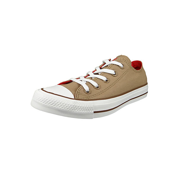 Chucks 162454C Beige Chuck Taylor All Star OX Teak Cherry Red Chestnut Brown Sneakers Low