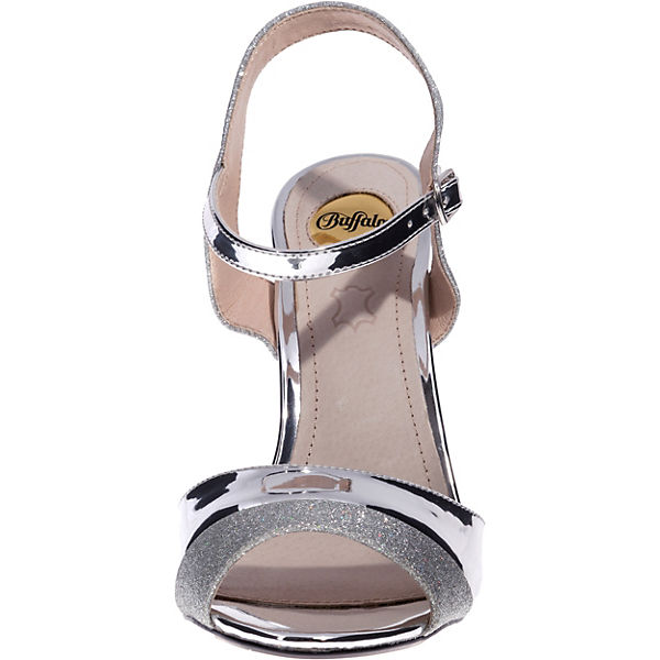 BUFFALO, Aida Klassische Klassische Klassische Sandaletten, silber  Gute Qualität beliebte Schuhe b3ea06