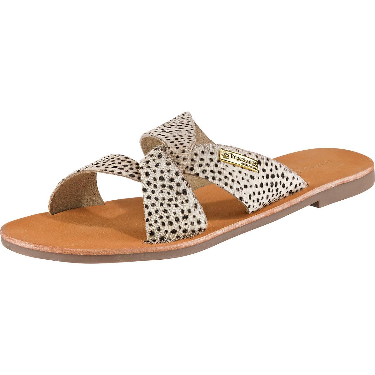 LES TROPEZIENNES, Placide Pantoletten, schwarz weiß  Gute Qualität beliebte Schuhe