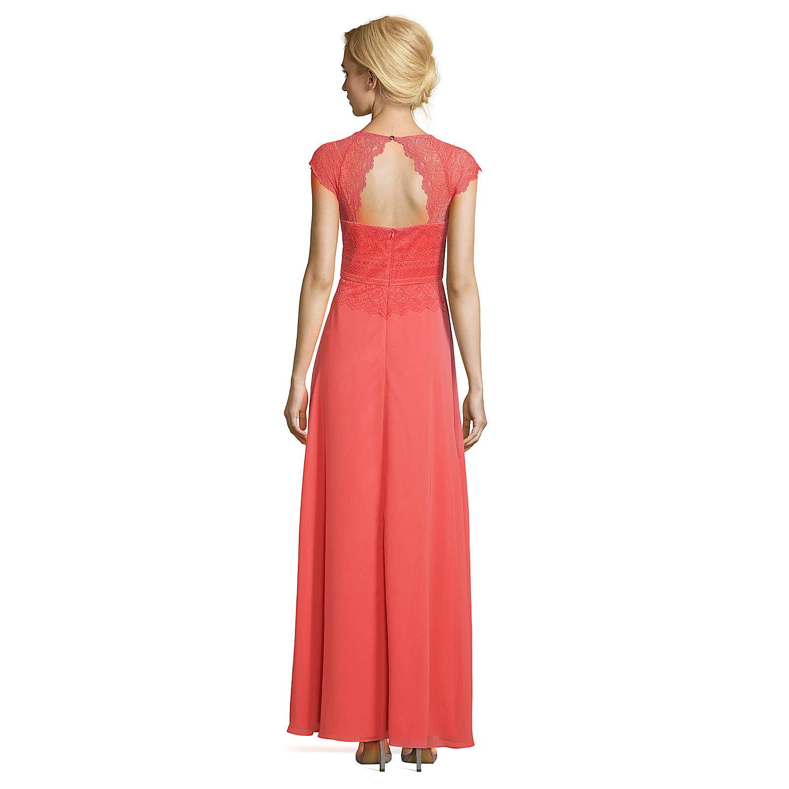 Vera Mont Abiballkleid mit überschnittenen Ärmeln rosa/rot Damen Gr. 40