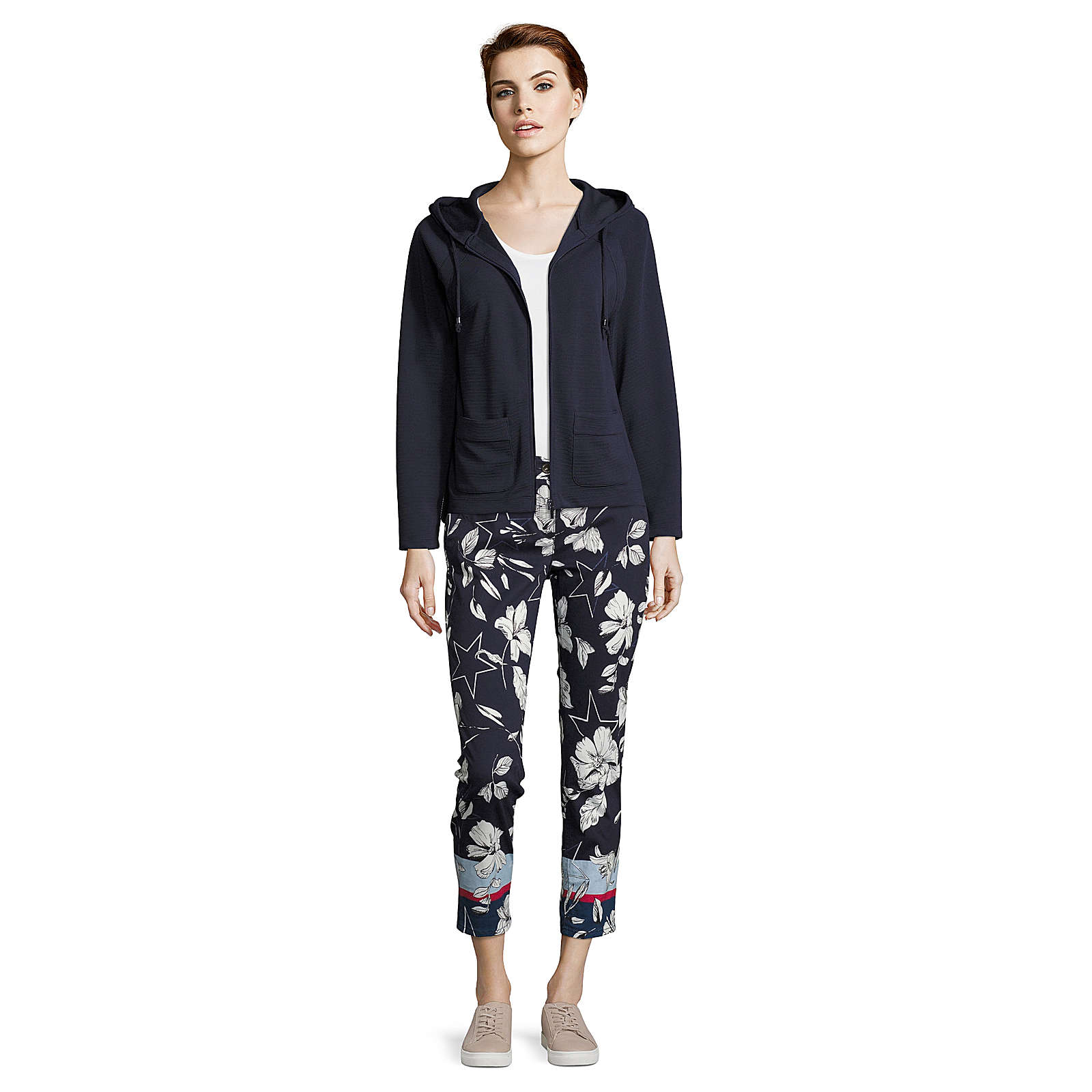 Betty & Co Sweatshirt-Jacke Sweatblazer mehrfarbig Damen Gr. 44