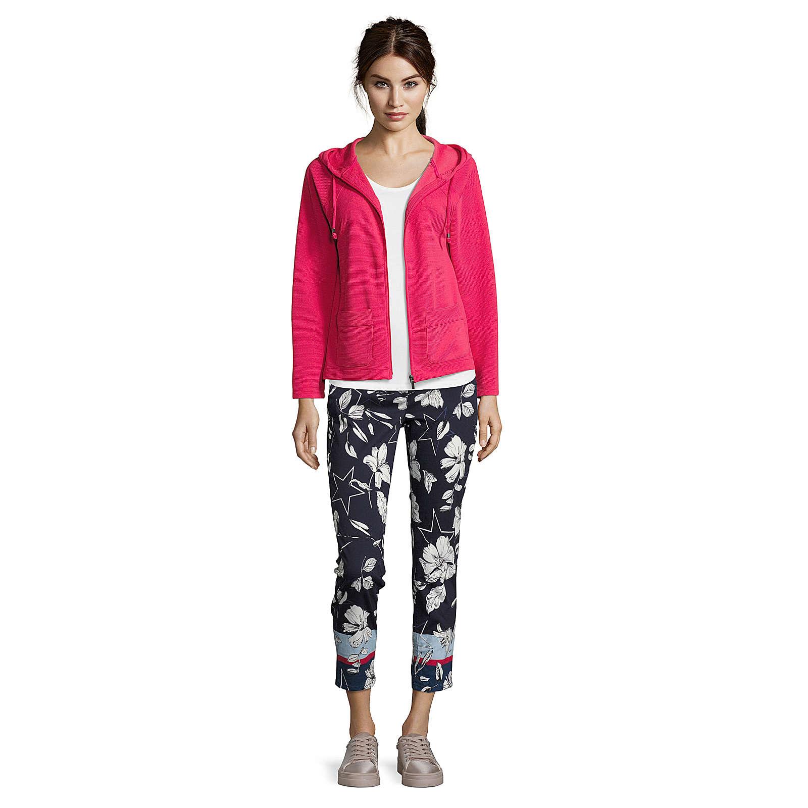 Betty & Co Sweatshirt-Jacke Sweatblazer mehrfarbig Damen Gr. 40