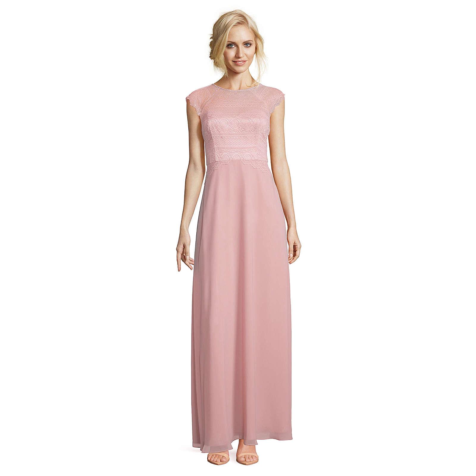 Vera Mont Abiballkleid mit überschnittenen Ärmeln hellrosa Damen Gr. 40