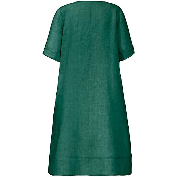 Kleid arm Mit Grün Aus 4 3 Aura 100Leinen Anna Sommerkleider 8P0knwOX