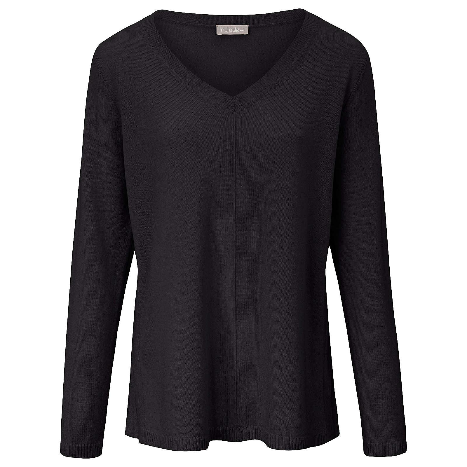 Include V-Pullover V-Pullover aus 100% Kaschmir Pullover schwarz Damen Gr. 48