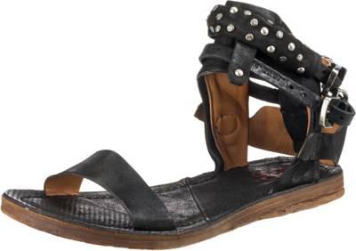 A.S.98, Klassische Sandalen, schwarz