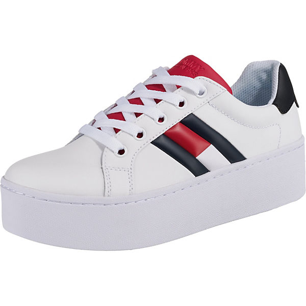 cdc0c00bc9 TOMMY JEANS, TOMMY JEANS ICON SNEAKER Sneakers Low, weiß-kombi ...