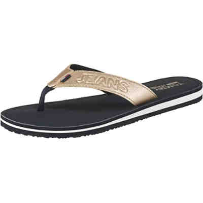 SHINY METALLIC BEACH SANDAL Zehentrenner